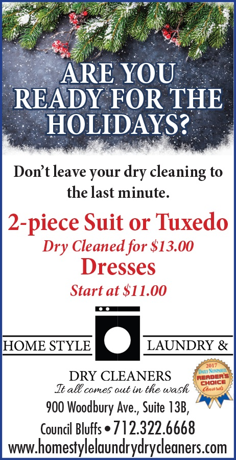 Homestyle Laundry Dry Cleaning Special