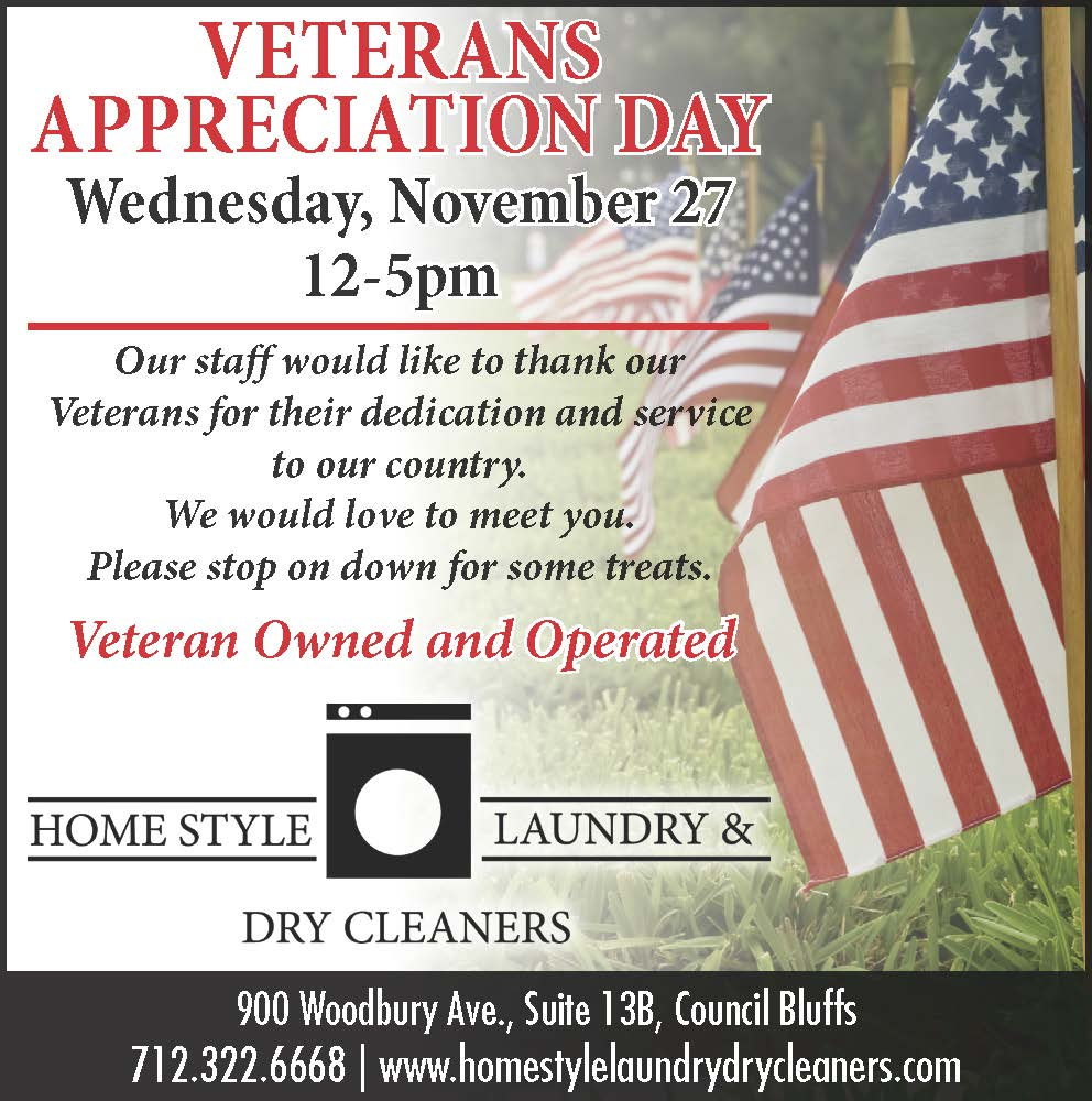 Home Style Laundry Veterans Ad 2019