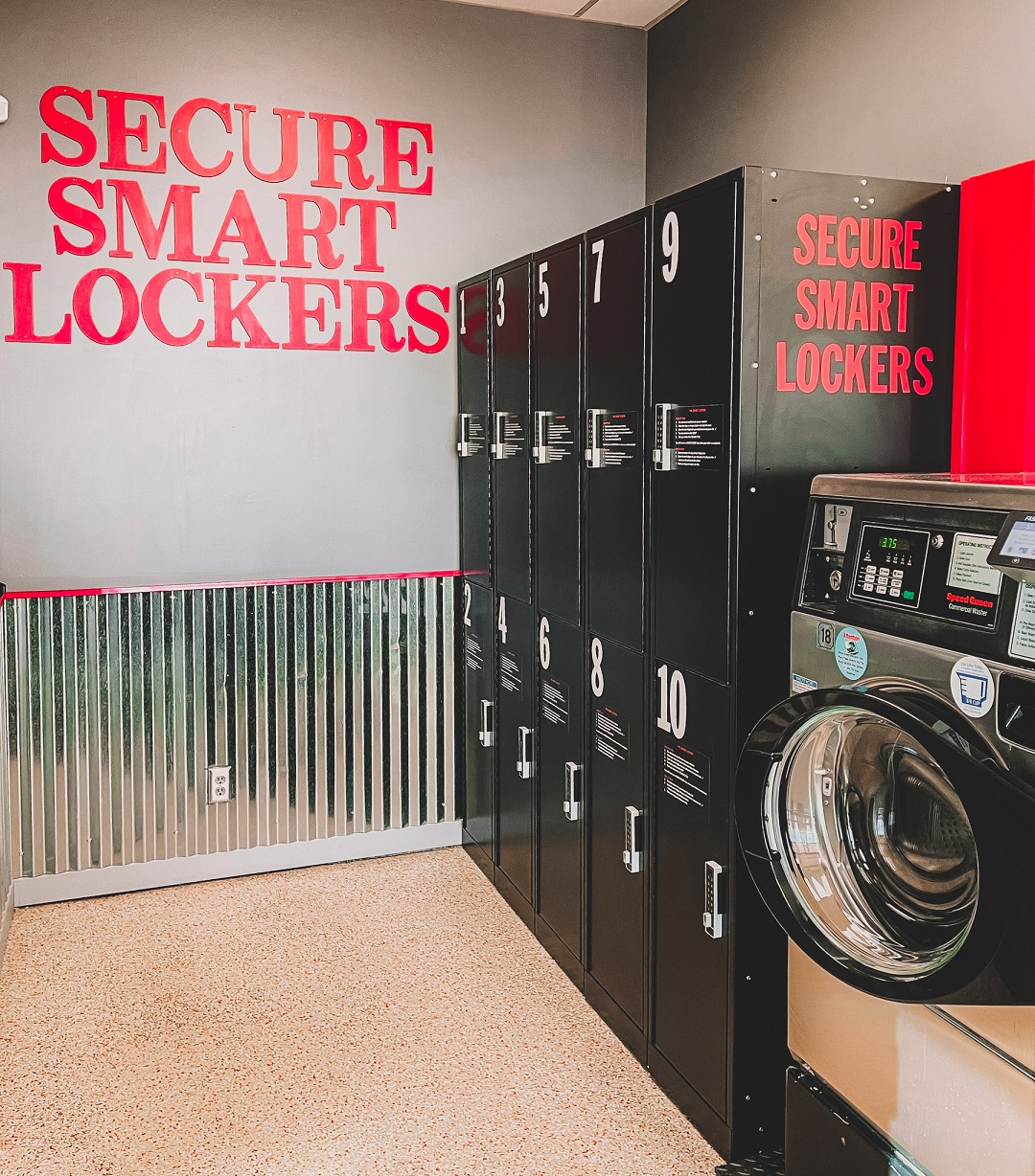 Home Style Laundry Secure Smart Lockers Service